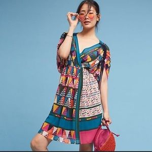 Anthropologie Maeve Geometric Print Dress 2P